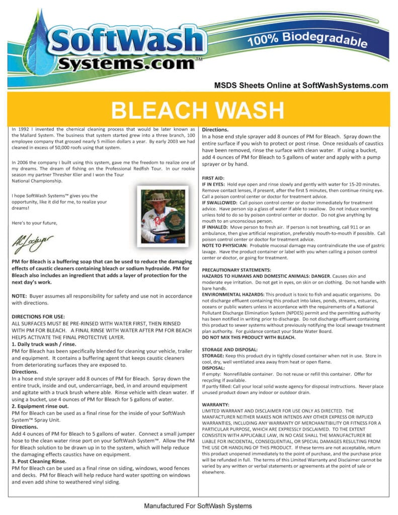 Label-SoftWash -BleachWash