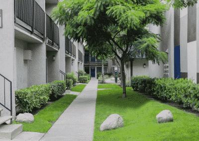 apartment homes walkway