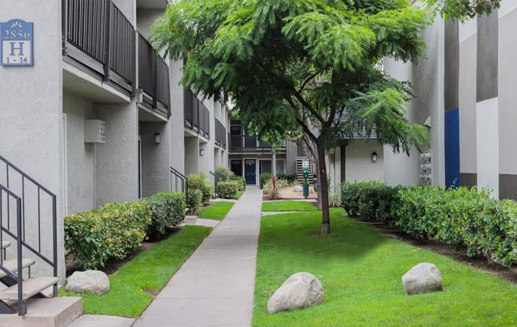 Apartment homes walkway