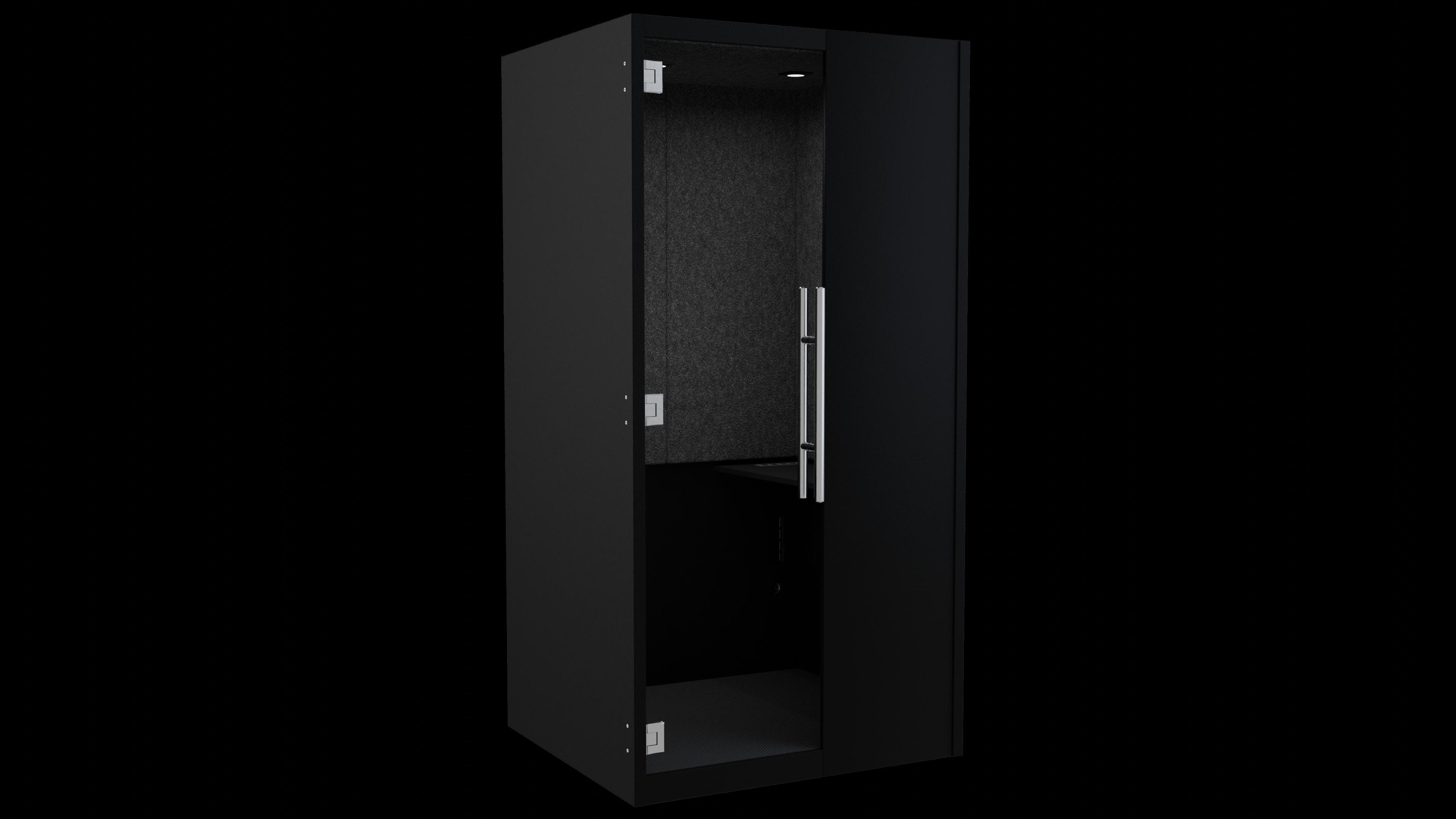 Black Laminate phoneBOX with Charcoal Felt