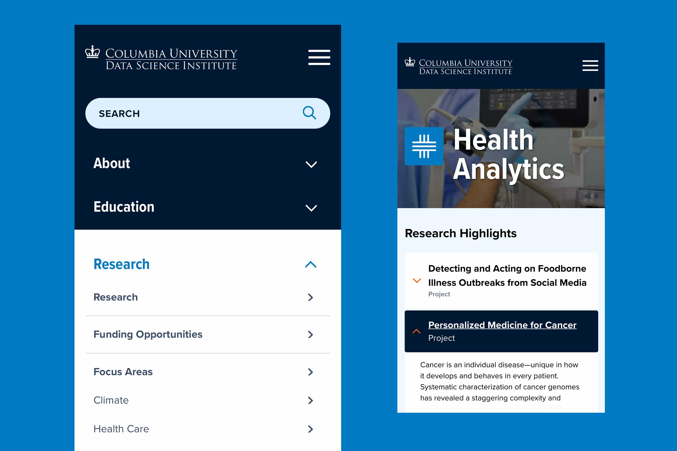 Columbia-Data-Science-Institute-website-design-2
