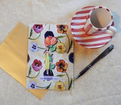 Danasimson.com Back of Just Bee Gift card with vellum envelope