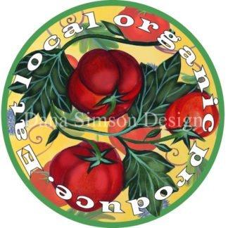 "Danasimson.com ""Eat Local Produce"" car art sticker"