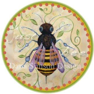 "Danasimson.com ""Just bee"" with a honey bee car art sticker"