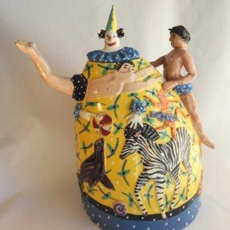 Danasimson.com My Life as a circus Teapot one side