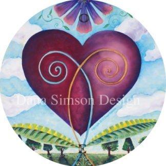 Danasimson.com Blooming heart car art sticker