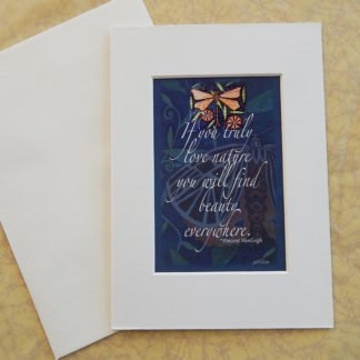 Danasimsoncom Matted art card with envelope, Van Gogh quote: If you truly love nature you will find beauty everywhere.