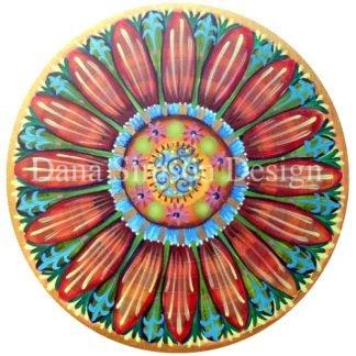 Danasimson.com Pop art flower car art sticker