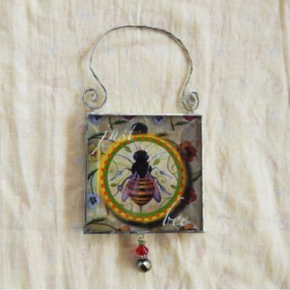 Danasimson.com double sided ornament just bee image