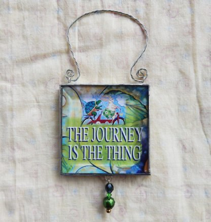 Danasimson.com double sided ornament journeys the thing quote
