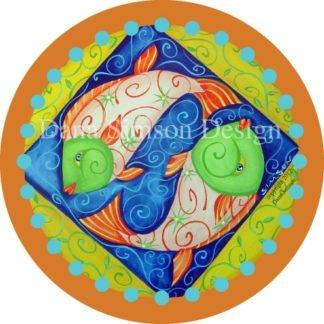 Danasimson.com Ying Yang fish car art sticker