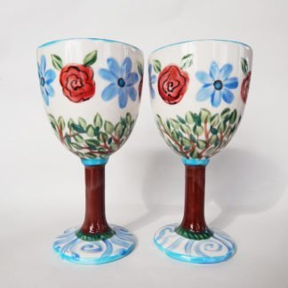 Personalized Wedding Goblets; Long Love is a well tended Garden which may also be personalized