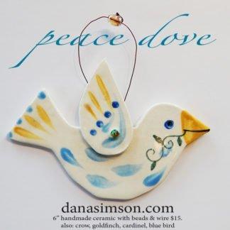 Danasimson.com Ceramic bird ornament peace dove