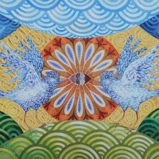 "Danasimson.com ""Love is Symetrical"" painting"