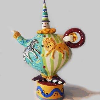"""Danasimson.com Teapot """"My life as a circus"""""""
