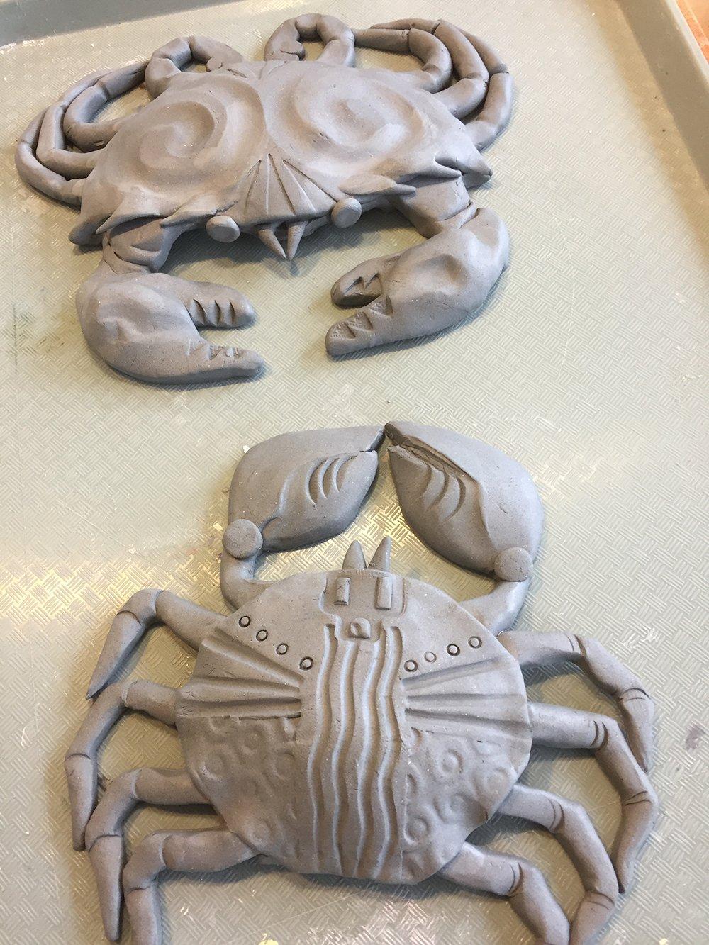 clay sea creature crabs