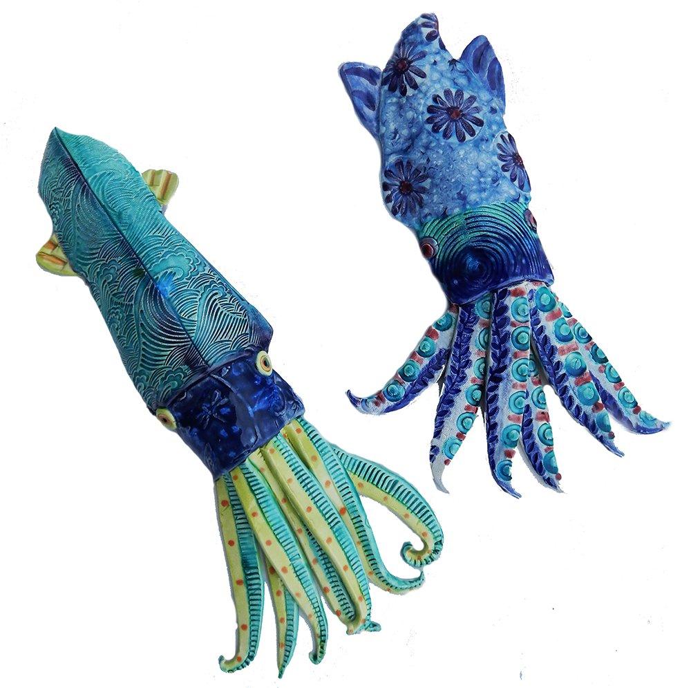 ceramic squid sculptures