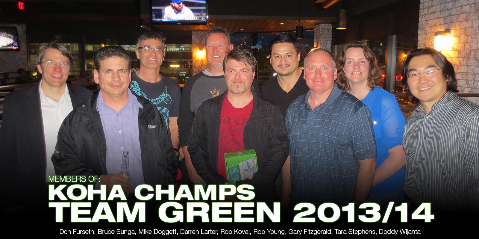 KOHA :: Team Green :: 2013/2014 Champs