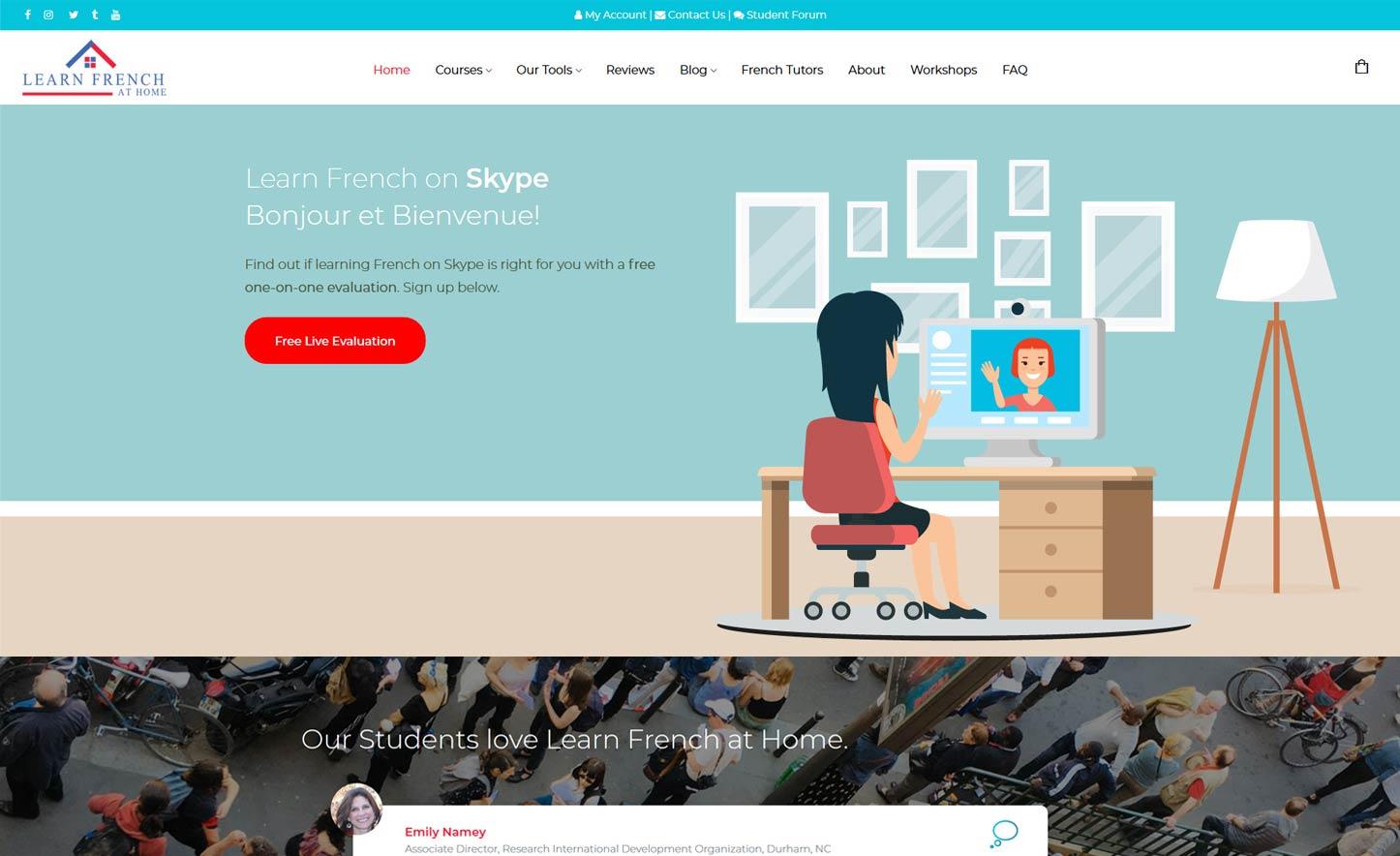Microblading School Web Design