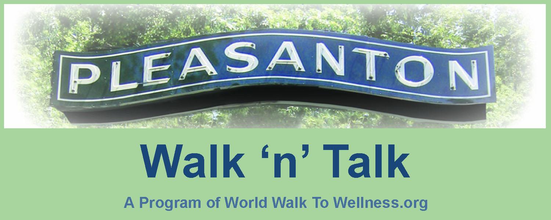 Pleasanton Walk n Talk logo