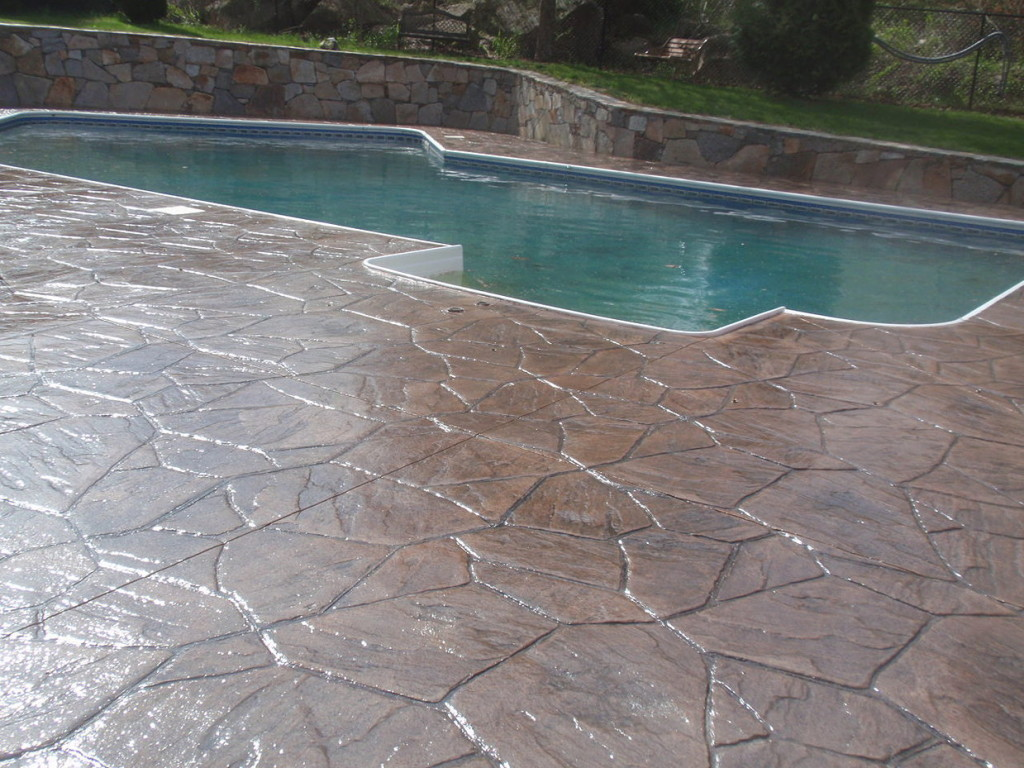 photo of Stamped Concrete Pool Patio Deck Sealing