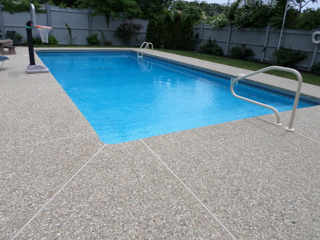 Photo of Exposed Aggregate Concrete Cleaning, Treating and Sealing in Whitman, MA
