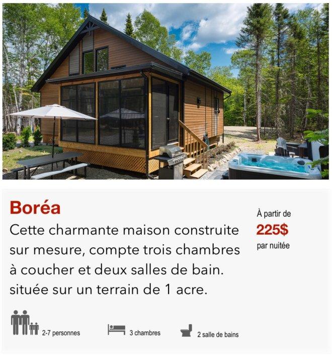 link to chalet boréa
