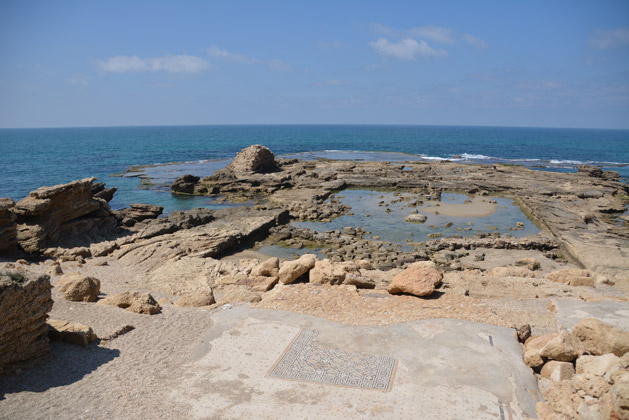 Herrod's former palace swimming pool at Caesarea.