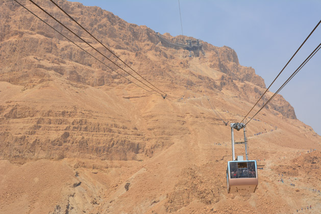 The cable car to the top.