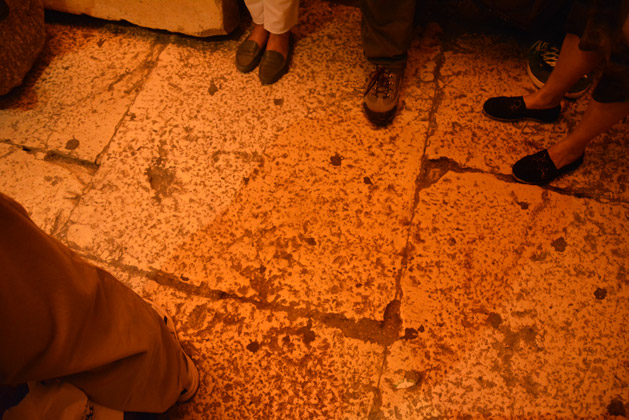 The streets dating back to the Herodian Period and the time of Jesus.
