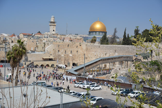 The above ground portion of Jerusalem's Western Wall.