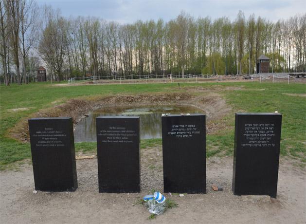 The ash pit at Birkenau.
