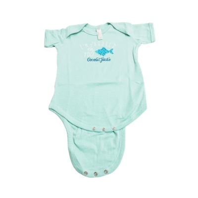 Coconut Jack's Baby Bodysuits blue fish