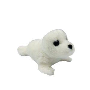 Coconut Jack's white seal stuffed animal