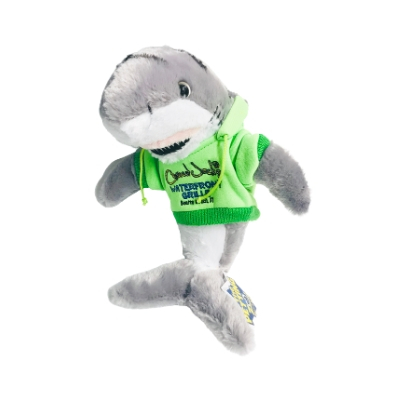 #1 tiger shark toy with green hoodie