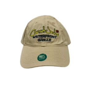 coconut jack's brown hat with logo