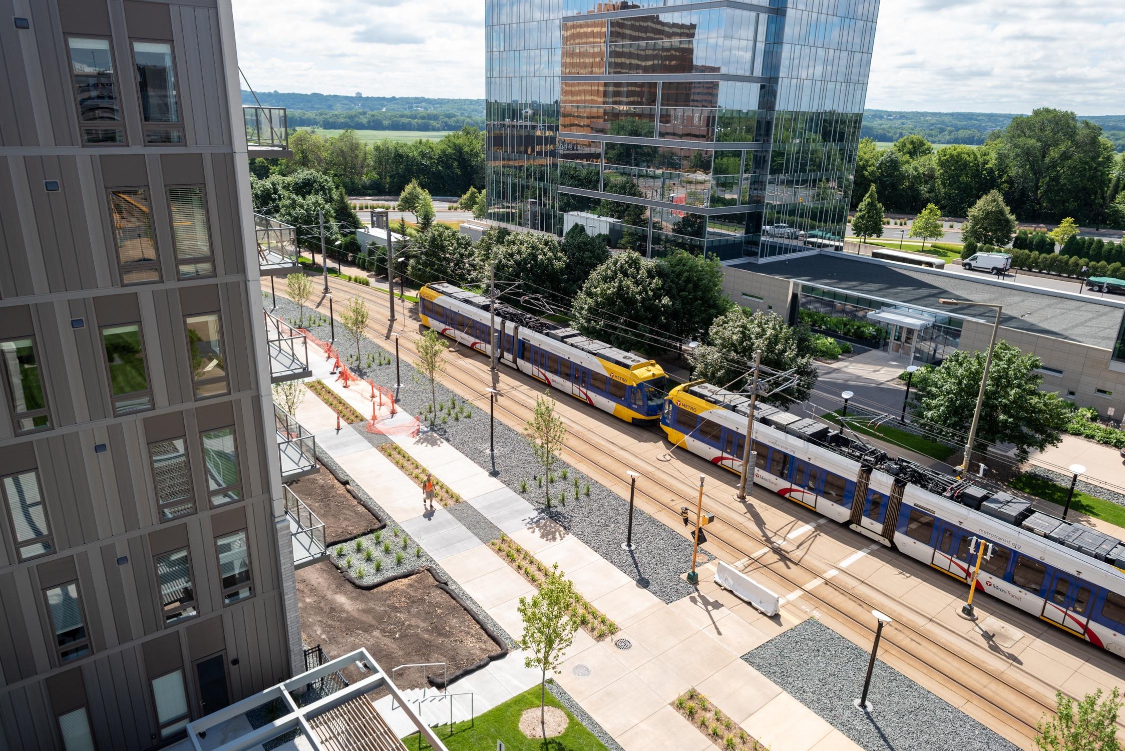 Apartments on the light rail - Minneapolis