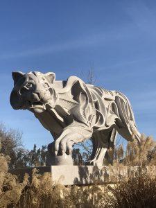 Puma sculpture at sculpterra