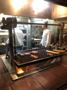 Hitching Post BBQ pit