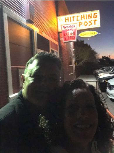 Couple at Hitching Post