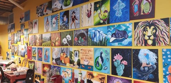 Art Covered Walls