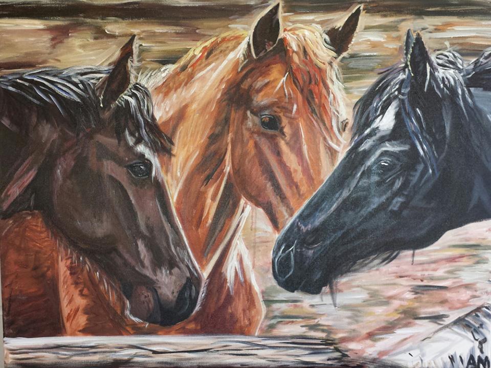 alice murphy horse colored pencil art