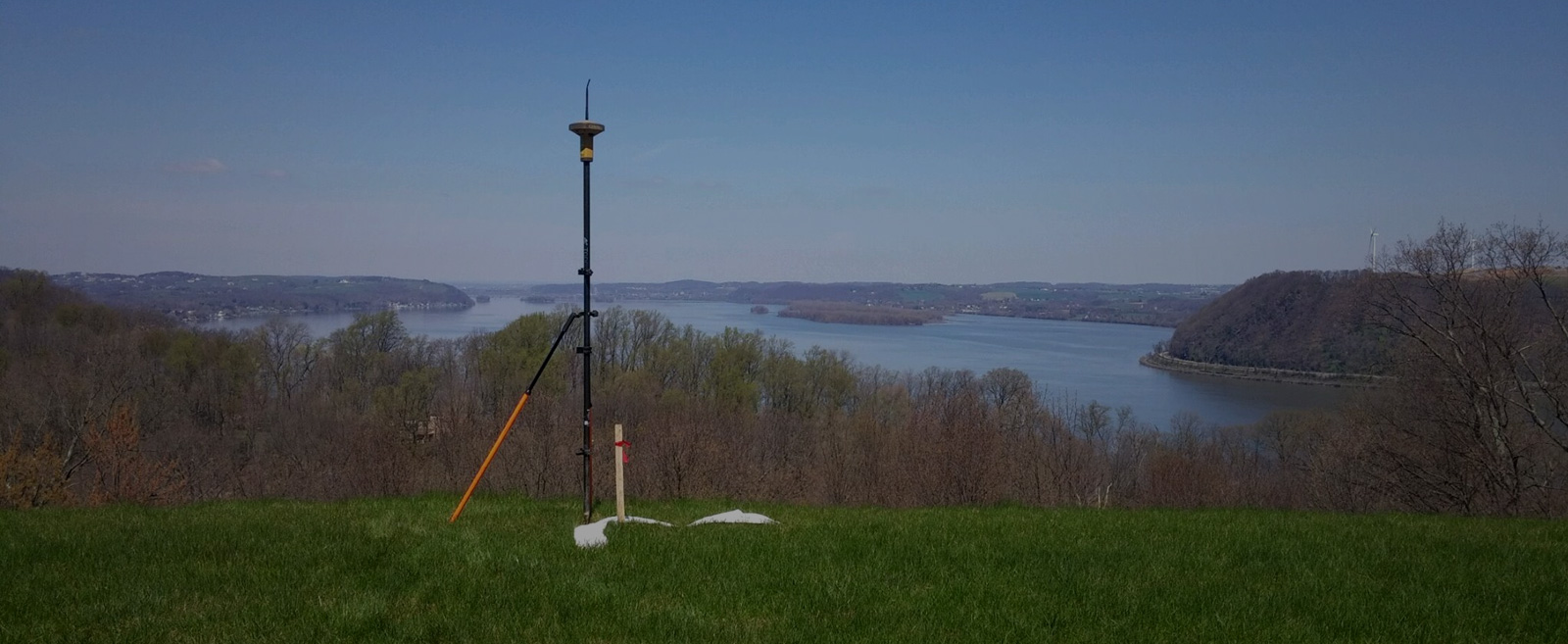 Surveying steep land property