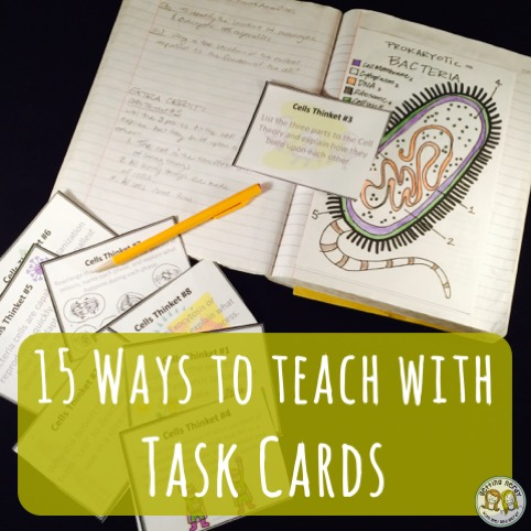 15 Ways to Use Task Cards in Class