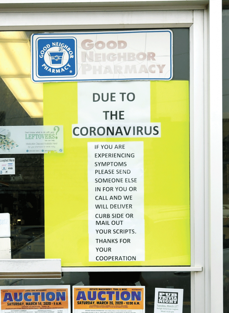 Elgin Nebraska Antelope County Nebraska news Bank of Elgin Elgin Pharmacy Dean's Market coronavirus covid 19 pandemic
