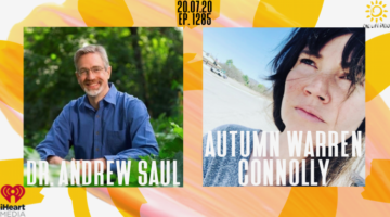 photo of our guests. dr Andrew Saul is on the left, autumn Warren Connolly is on the right