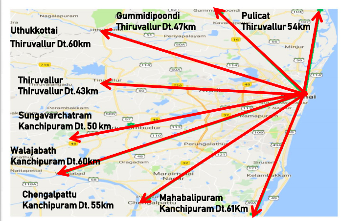 Operational Area of Greater Chennai Corporation
