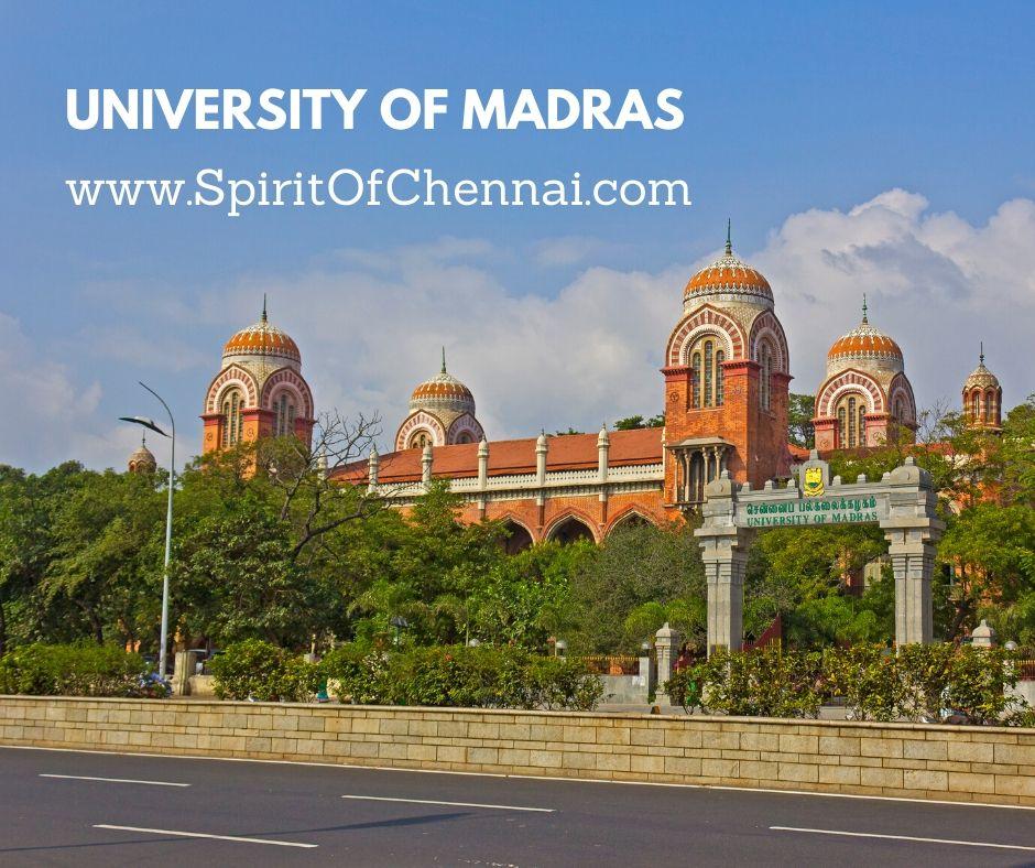 University Of Madras - Centenary Building (Places Near Marina Beach)