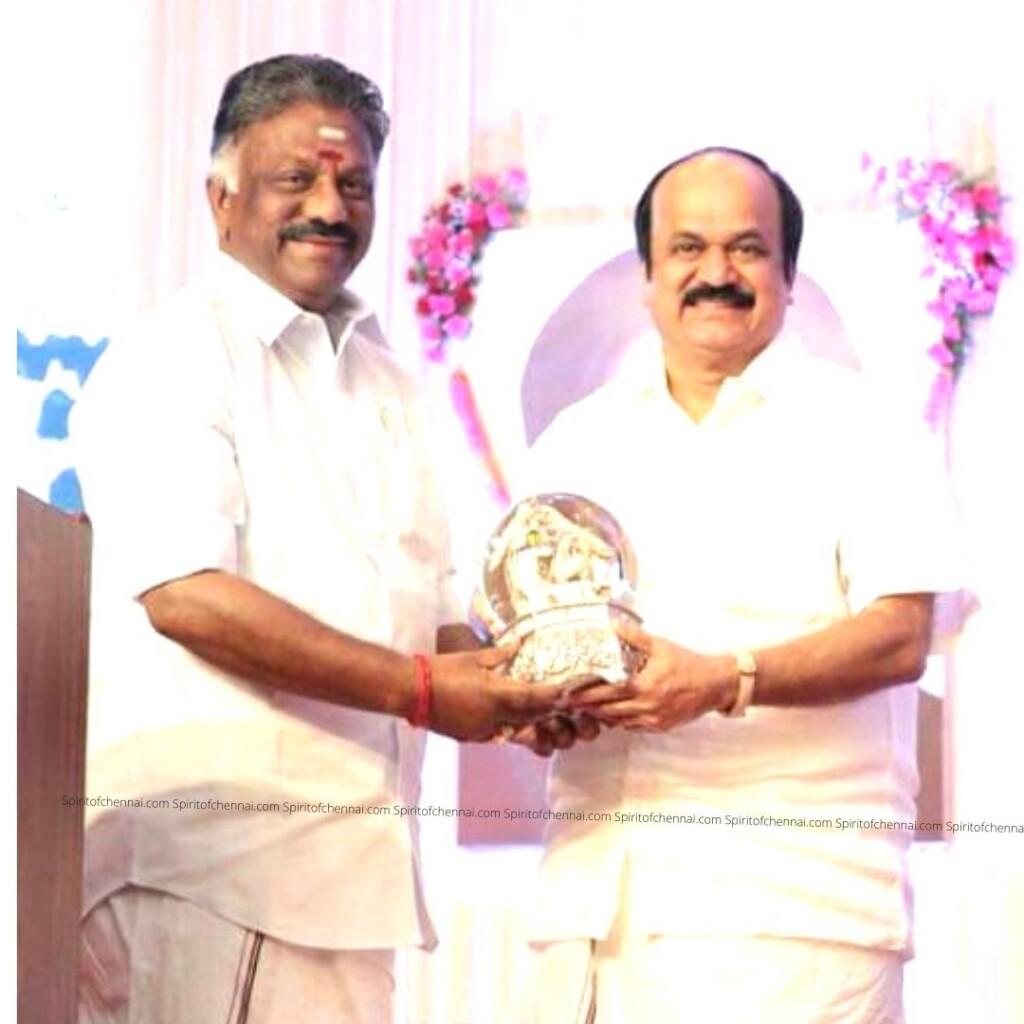 JCDPrabhakar with Deputy Chief Minister OPS