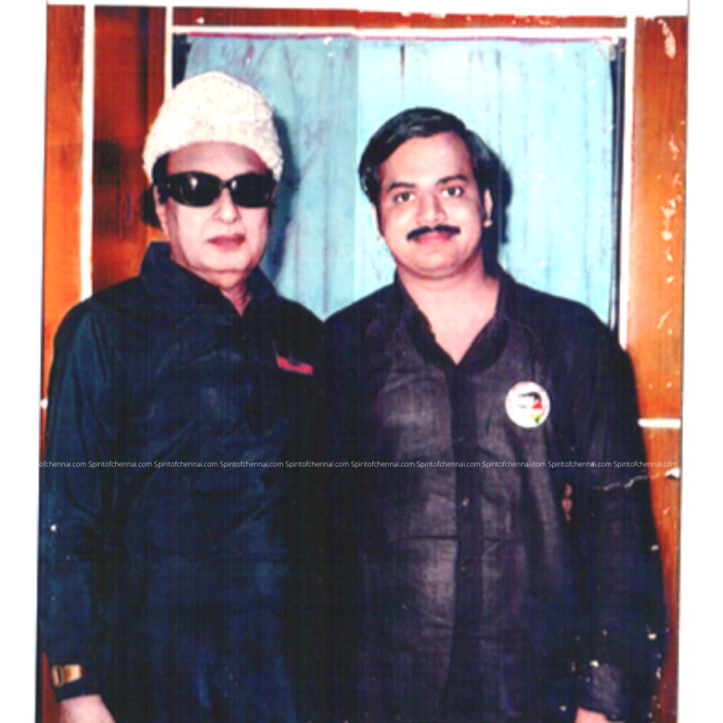 J.C.DPrabhakar  with Dr. MGR
